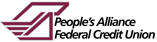 Peoples Alliance FCU Logo and Name